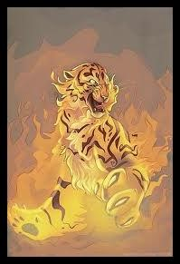 A poem about fiery tigers tails.